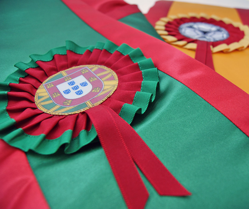 faixas de campeão personalizadas com roseta