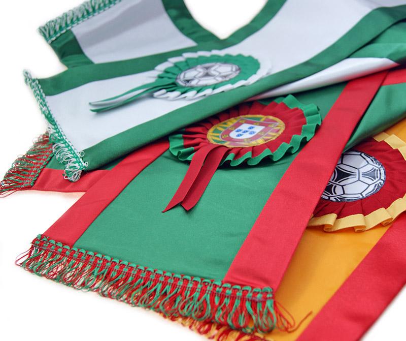 faixas de campeão personalizadas em várias cores