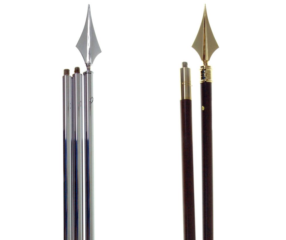 mastros de interior em metal cromado e madeira